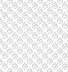 Thai pattern floral 01 vector image