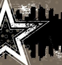 urban retro background design vector image vector image