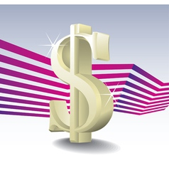 3D dollar sign vector image vector image