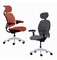 ergonomic chair office furniture adjustable vector image