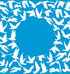 Frame for your text Flying dove for peace concept vector image vector image