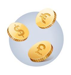 Golden falling money vector image vector image