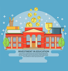 investment in education concept vector image
