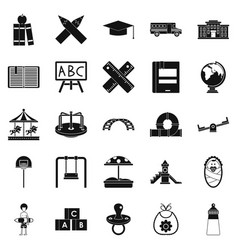 pupil icons set simple style vector image vector image
