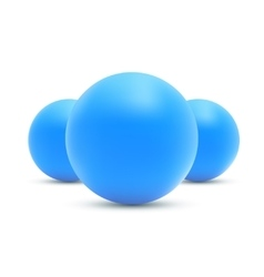 Set of realistic Blue balls Blue sphere vector image vector image