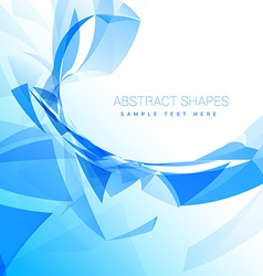 Abstract poly wave background vector