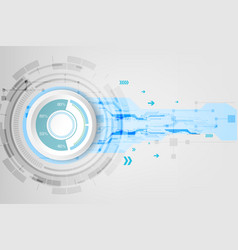 abstract technological background concept vector image