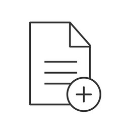 Add new document linear icon vector