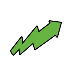 Arrow green direction up icon graphic vector