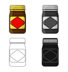 Australian food spread icon in cartoon style vector