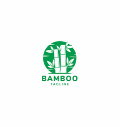 bamboo asian graphic vector image