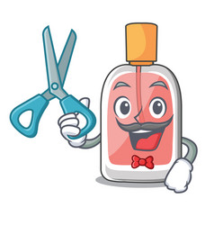 Barber perfume in the a cartoon bottle vector