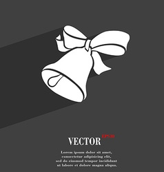Bell symbol Flat modern web design with long vector