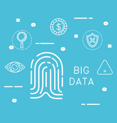 big data set icons vector image