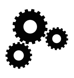 black gear icon vector image