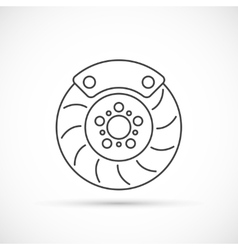 Brake disc outline icon vector image