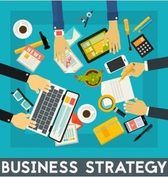 Business strategy concept banner vector