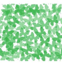 Butterflies green vector