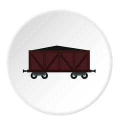Cargo wagon icon circle vector