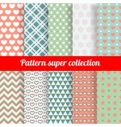 Collection chic seamless patterns vector