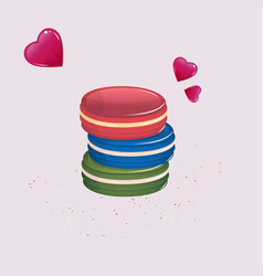 Colorful macaroons or macarons vector