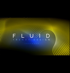 Digital flowing wave particles abstract background vector