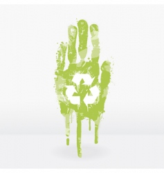 ecological hand design vector image
