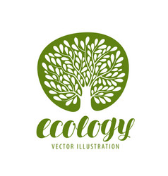 ecology environmental protection nature logo or vector image