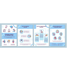 Economic hearing loss impact brochure template vector