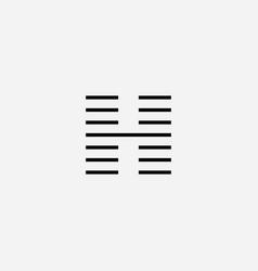 elegant letter h logo design vector image