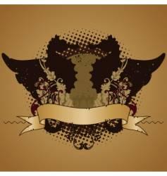 emblem design element with seahorses vector image