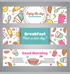 Enjoy the day slogan good morning text cafe vector