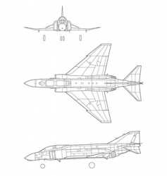 f4 phantom vector image