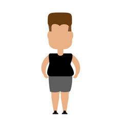 Fat man cartoon vector