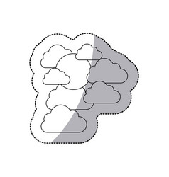 figure cloud sticker icon vector image