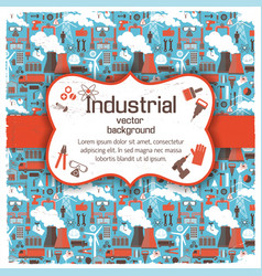 Figured placard on industrial background vector