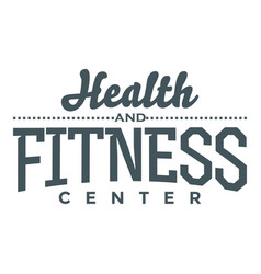 Fitness and health center image vector