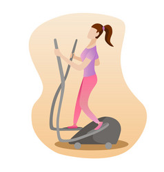 fitness concept of woman running on vector image