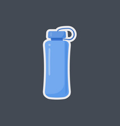 Fitness water bottle flat icon vector