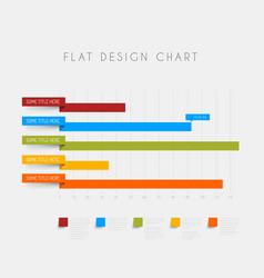 Flat design statistics column graphs vector