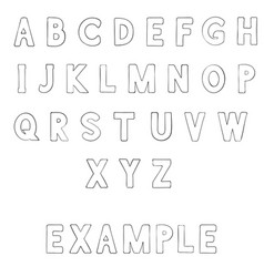 Font outline alphabet letters vector
