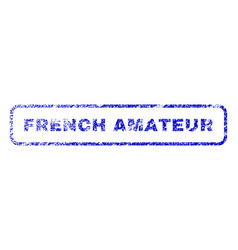 French amateur rubber stamp vector