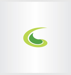 germination logo green letter g vector image