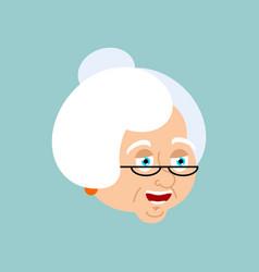 grandmother happy emotion avatar face grandma vector image