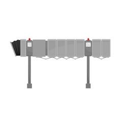 Gray jet bridge on a white vector