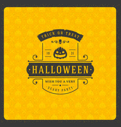 Halloween celebration greeting card vector