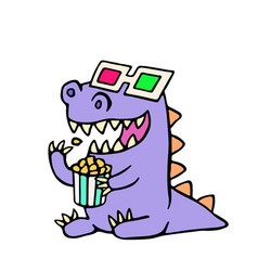 happy dragon anaglyph glasses and a box of vector image
