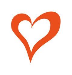heart love romance passion valentine concept vector image