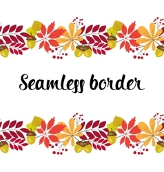 horizontal seamless border with autumn vector image