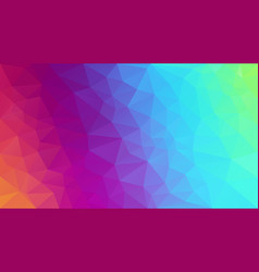 Irregular polygonal background neon rainbow vector